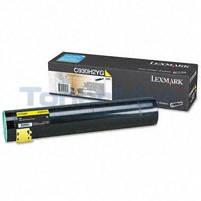 LEXMARK C935 TONER CARTRIDGE YELLOW HY
